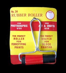 Vintage Rubber Roller #24 Brayer Block Print Ferrotyping Testrite Instrument NOS