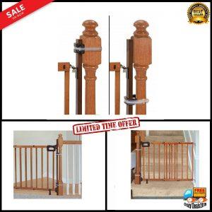 "Summer Infant Banister Banister Stairway Baby Gate Mounting Kit 37"" wood"