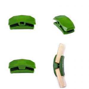 PlayWood Connector for Tool-Free Furniture & Storage Assembly 150-Deg Lt. Gr.
