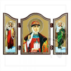 1438 princess Olga christian icon    travel gift altar