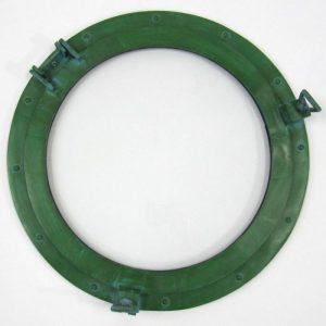 """20"""" ROUND ALUMINUM GREEN  FINISH PORTHOLE WITH GLASS-NAUTICAL DECOR"""