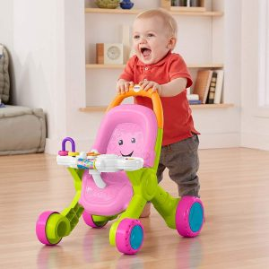 Fisher-Price Stroll & Learn Walker Baby Walk Learning Tooy, Fast Ship