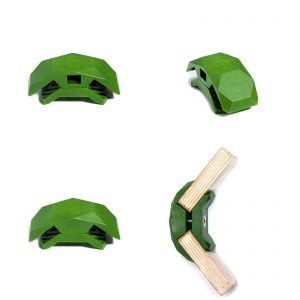 PlayWood Connector for Tool-Free Furniture & Storage Assembly 105-Deg Lt. Gr.