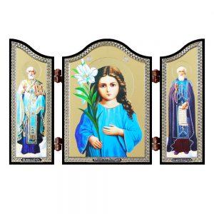 1418 Triletstvujushhaja God's mother Christian icon Triletstvujushhaja rice