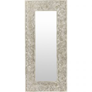 Bungalow Rose Cartersville Weathered Pewter Accent Mirror