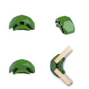 PlayWood Connector for Tool-Free Furniture & Storage Assembly 90-Deg Lt. Gr.