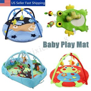 Baby Kids Playmat Animal Printed Center Pedal Game Activity Fitness Gym Mat US