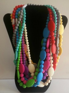Trendy Silicone Teething / Nursing Necklaces for Mommy! BPA Free, FDA Approved