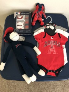 MLB Los Angeles Angels 3-6 months One Pieces BABY GIFT LOT NEW